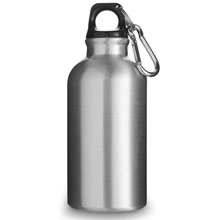 Water bottle with carabiner clip,Silver,W4V4659,Sports Items