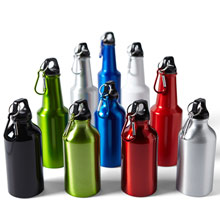 Water bottle with carabiner clip