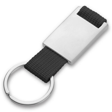 promotional Keyring with metal badge,W4V4790,colour: Black,Navy Blue,Red,Orange,Keyrings & Keyfobs,Water4Fish,promotional products