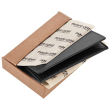 Promotional Mauro Conti leather business card