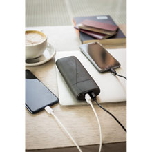 Promotional Power bank 7500 mAh Mauro Conti, wall charger