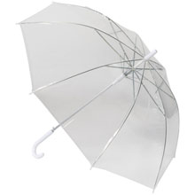 promotional Automatic transparent umbrella,W4V4955,colour: White,Umbrellas,Water4Fish,promotional products