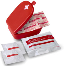 promotional First aid kit in plastic case,W4V5475,colour: Red,Medical & Personal Care Items,Water4Fish,promotional products