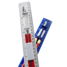 Ruler set with pencils