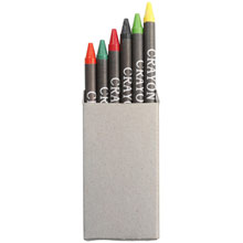 promotional Crayon set, 6 pcs,W4V6127,colour: Neutral,Pencils,Water4Fish,promotional products