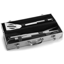 promotional Barbecue set in aluminium case,W4V6362,colour: Silver,Travel & Leisure Items,Water4Fish,promotional products