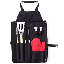 Apron with barbecue set 6 el,W4V6391,Beach & Outdoor Items