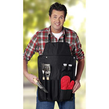 Apron with barbecue set 6 el