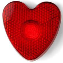 Flashing safety light - heart,W4V6463,colour: Red,Torches & LED,Water4Fish