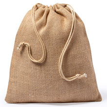 Promotional Big jute drawstring bag