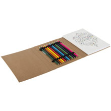Promotional Colouring book for adults, colour pencils