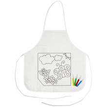 Promotional Kitchen apron for colouring