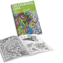 Adults colouring book A4