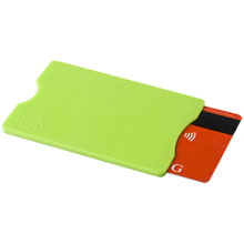 Credit card holder with RFID protection,Light Green,W4V9878,Business Card Holders
